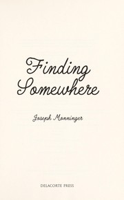 Cover of: Finding somewhere