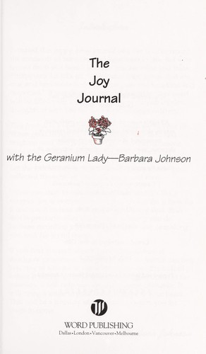 Joy journal : with the geranium lady by