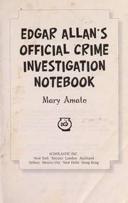 Cover of: Edgar Allan's official crime investigation notebook