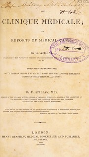 Cover of: The clinique m©♭dicale; or, reports of medical cases