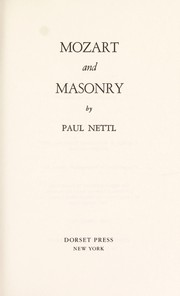 Cover of: Mozart and Masonry