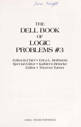 DELL BOOK OF LOGIC PROBLEMS-P461014/10 (Dell Book of Logic Problems) by Erica L. Rothstein
