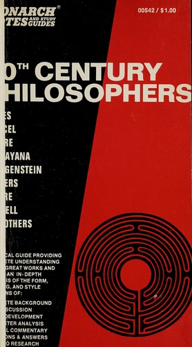 20th century philosophers by Robert S. Ehrlich