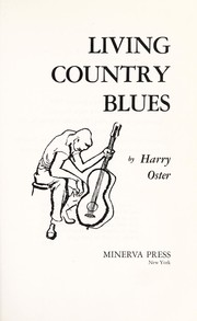Cover of: Living country blues | Harry Oster
