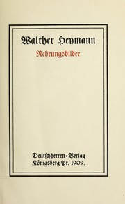 Cover of: Nehrungsbilder