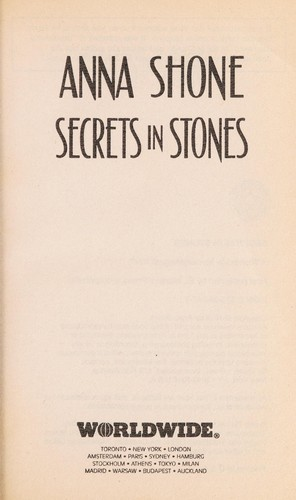 Secrets in stones by Anna Shone