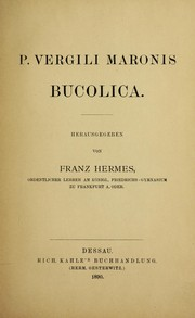 Cover of: P. Vergili Maronis Bucolica