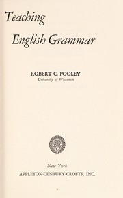 Cover of: Teaching English grammar