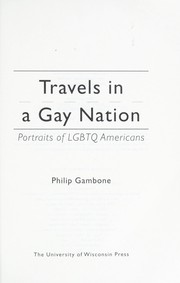 Cover of: Travels in a gay nation