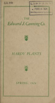 Cover of: Hardy plants | Edward J. Canning Company
