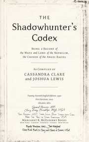 Cover of: The Shadowhunter's Codex