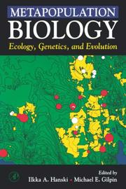 Cover of: Metapopulation biology by