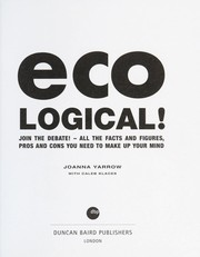 Cover of: Eco-logical! : the thinker's guide to green living |