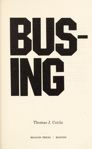 Cover of: Busing | Thomas J. Cottle