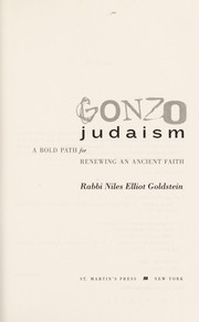 Cover of: Gonzo Judaism