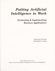 Cover of: Putting artificial intelligence to work | Seymour Schoen