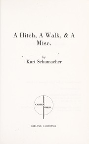 Cover of: A hitch, a walk & a misc