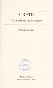 Cover of: Crete: the battle and the resistance