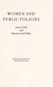 Cover of: Women and public policies
