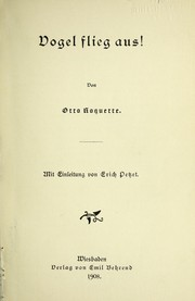 Cover of: Vogel flieg aus