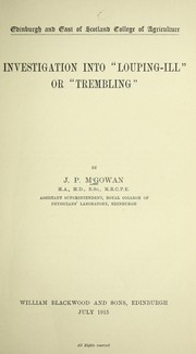 Cover of: Investigation into louping-ill or trembling | J. P. M  Gowan