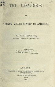 "Cover of: The Linwoods, or, ""Sixty years since"" in America"