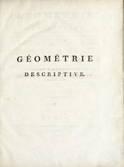 Cover of: Géométrie descriptive