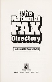Cover of: The national fax directory