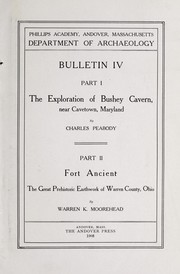 Cover of: The exploration of Bushey Cavern near Cavetown, Maryland | Charles Peabody