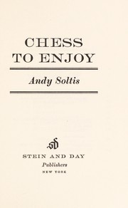 Cover of: Chess to enjoy
