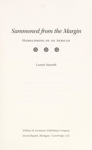 Cover of: Summoned from the margin