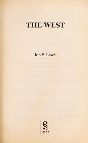 The West by Jon E. Lewis