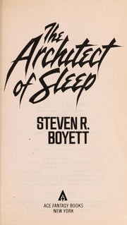 Cover of: The Architect of Sleep
