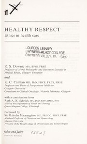 Cover of: Healthy respect | R. S. Downie