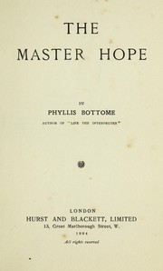 Cover of: The master hope