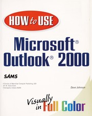 Cover of: How to use Microsoft Outlook 2000 | Johnson, Dave