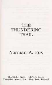 Cover of: The thundering trail
