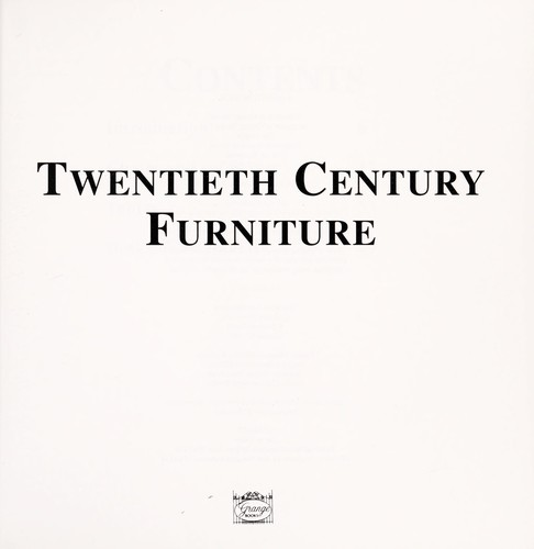 Twentieth century furniture by editor: Clare Haworth-Maden.