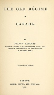 Cover of: The old régime in Canada