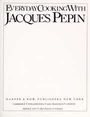 Cover of: Everyday cooking with Jacques Pépin