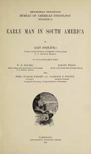 Cover of: Early man in South America