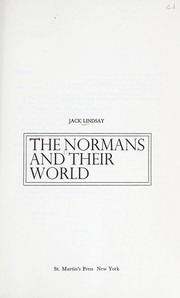Cover of: The Normans and their world