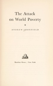 Cover of: The attack on world poverty