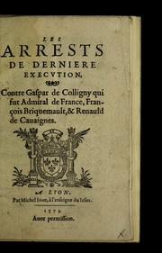 Cover of: Les arrests de derniere execvtion