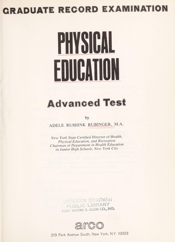Physical education, advanced test by