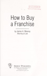Cover of: How to Buy a Franchise [electronic resource] |