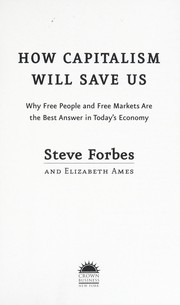 Cover of: How capitalism will save us