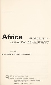 Cover of: Africa: problems in economic development