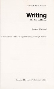 Cover of: Writing | Leonée Ormond