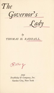 Cover of: The Governor's lady